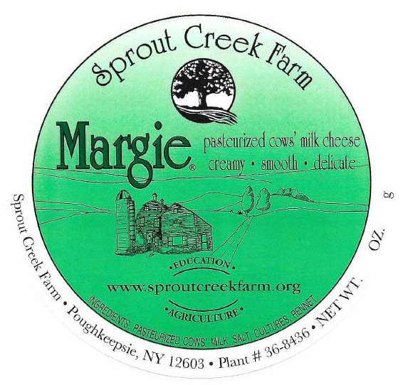 Sprout Creek Farm Recall - Margie Cheese Label.